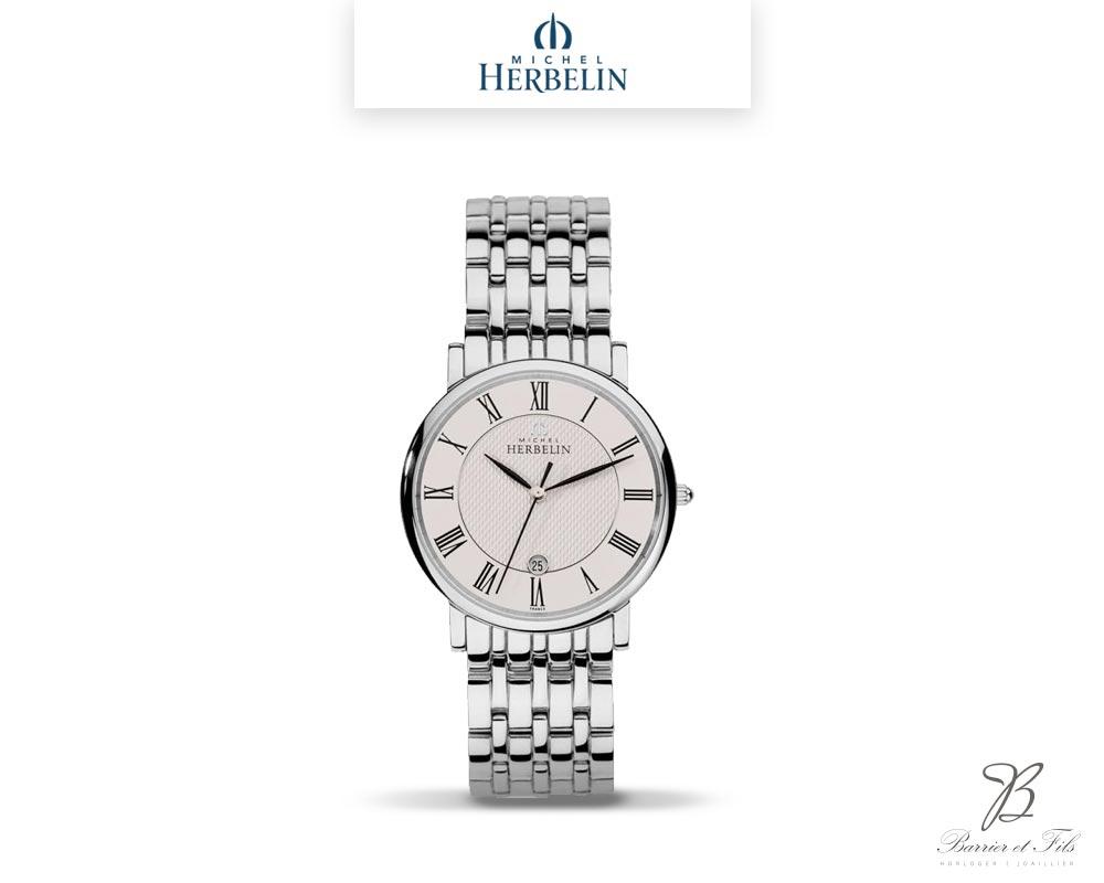 barrier-et-fils-paris-16ieme-joaillier-horloger-reparation-bijoux-Le-Shop-homme-Montre-Michel-Herbelin-collection-Classique-12543-B01