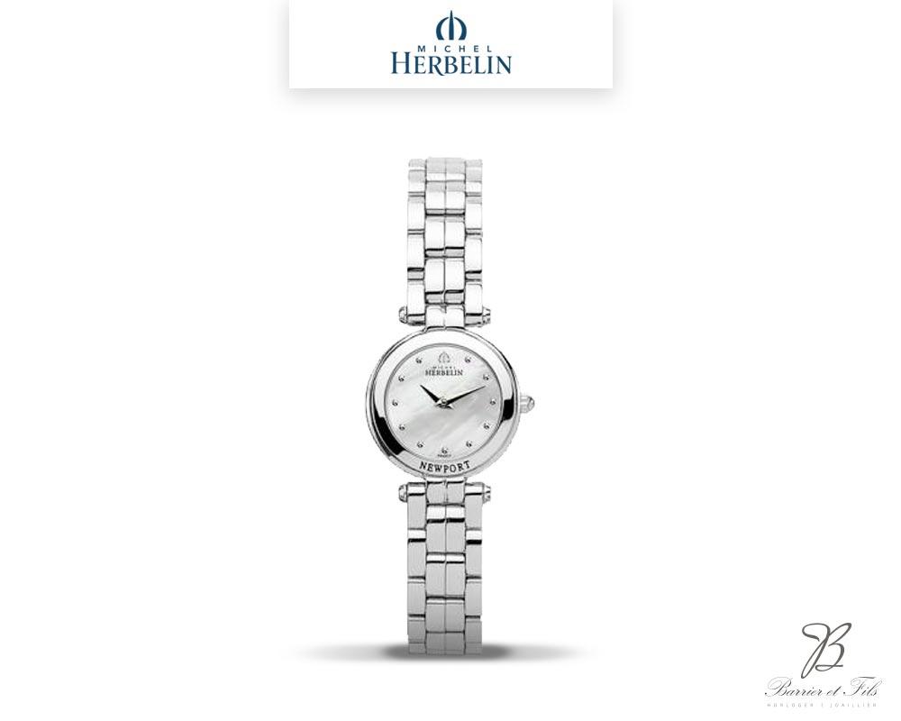 barrier-et-fils-paris-16ieme-joaillier-horloger-reparation-bijoux-Le-Shop-homme-Montre-Michel-Herbelin-collection-Newport-17455-B19