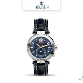 barrier-et-fils-paris-16ieme-joaillier-horloger-reparation-bijoux-Le-Shop-homme-Montre-Michel-Herbelin-collection-Newport-18466-65-bis