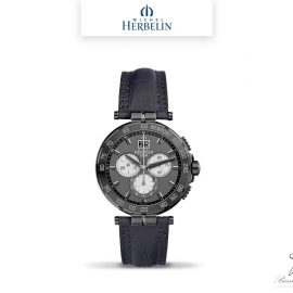 barrier-et-fils-paris-16ieme-joaillier-horloger-reparation-bijoux-Le-Shop-homme-Montre-Michel-Herbelin-collection-Newport-Chrono-36656-GN33