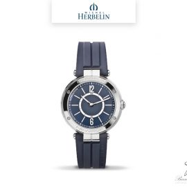 barrier-et-fils-paris-16ieme-joaillier-horloger-reparation-bijoux-Le-Shop-homme-Montre-Michel-Herbelin-collection-Newport-Connect-2017-GC-15CB